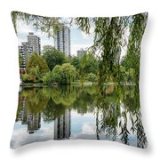 Lost Lagoon, Vancouver Throw Pillow