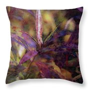 Lost Leaves Decorated In Purple 6003 Ldp_2 Throw Pillow