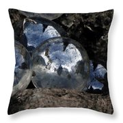 Lost Marbles-self Found Throw Pillow