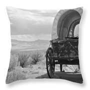 Lost On The Oregon Trail Throw Pillow