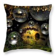 Lost Paradise Throw Pillow