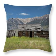 Lost River Range Cabin Throw Pillow