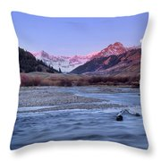 Lost River Range Throw Pillow