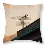 Lost Signal Throw Pillow