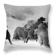 Lost, Souvenir Of Auvergne, August Friedrich Albrecht Schenck Throw Pillow