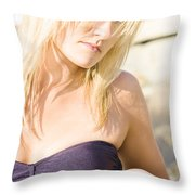 Lost Starfish Throw Pillow