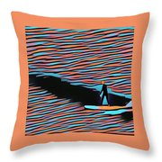 Lost Surfer Throw Pillow