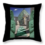 Lost Temple Of Alexandria Throw Pillow