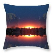 Lost World Reflections Throw Pillow