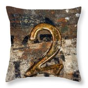Lot Number Two Throw Pillow