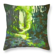 Lothlorian Wood Throw Pillow