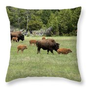 Lots Of Calves Throw Pillow