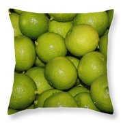 Lots Of Limes Throw Pillow