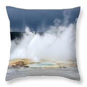 Lots Of Steam Throw Pillow