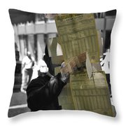 Lottery Man Throw Pillow
