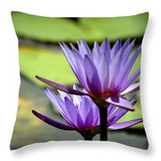 Lotus 5 Throw Pillow