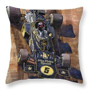 Lotus 72 Canadian Gp 1972 Emerson Fittipaldi  Throw Pillow