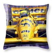 Lotus 99t Spa 1987 Ayrton Senna Throw Pillow