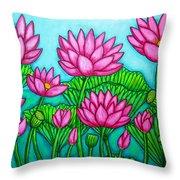 Lotus Bliss II Throw Pillow