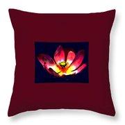 Lotus Blue Throw Pillow