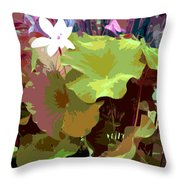 Lotus Design Throw Pillow