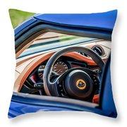 Lotus Evora S Steering Wheel -1858c Throw Pillow