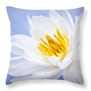 Lotus Flower Throw Pillow by Elena Elisseeva