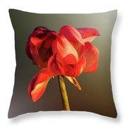Lotus Flower Golden Glow Throw Pillow