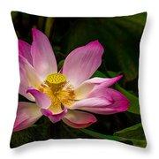 Lotus Flower Throw Pillow