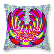 Lotus Flower Stunning Colors Abstract  Artistic Presentation By Navinjoshi Throw Pillow