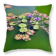 Lotus Flowers #4 Throw Pillow