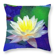 Lotus Grace Throw Pillow