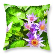 Lotus In Pond Throw Pillow