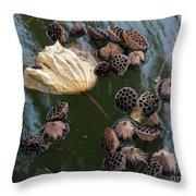 Lotus In The Lake Throw Pillow