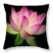 Lotus In The Limelight Throw Pillow