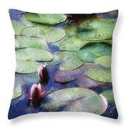 Lotus Lake Throw Pillow