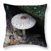 Lotus Mushroom Throw Pillow