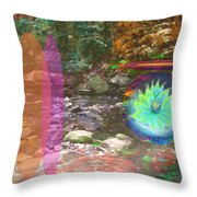 Lotus Of The Creek Throw Pillow