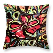 Lotus Petals Throw Pillow