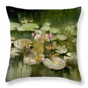 Lotus Pond 1 Throw Pillow