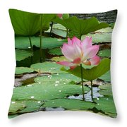Lotus Pond #3 Throw Pillow