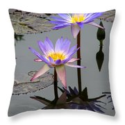 Lotus Reflection 4 Throw Pillow