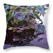 Lotus Reflections Throw Pillow