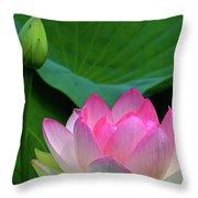 Lotus Siblings Throw Pillow