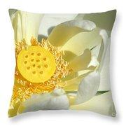Lotus Up Close Throw Pillow