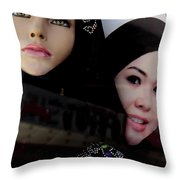 Lou And Tina Throw Pillow