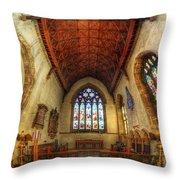 Loughborough Church - Altar Vertorama Throw Pillow