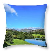 Loughrigg Tarn Throw Pillow