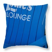 Louie S Lounge Throw Pillow