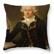 Louis Antoine De Bougainville 1790 Throw Pillow